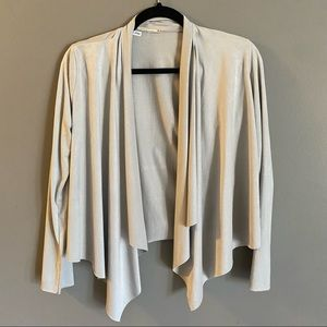 Mikey & Joey Polyester Drape Front Cardigan Size Small
